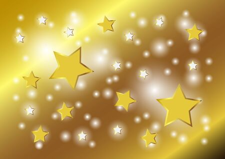 Abstract background vector shining golden star on gold texture