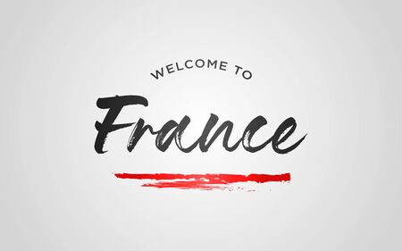 Paris Welcome To Word Text with Creative Handwritten Font Design Vector Illustration. - Vector