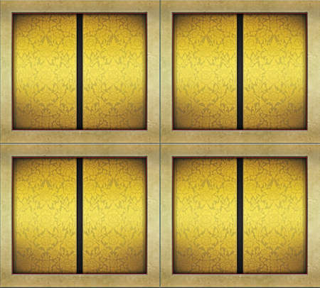 gold-like wall texture thai style design. Stock Photo - 10028817