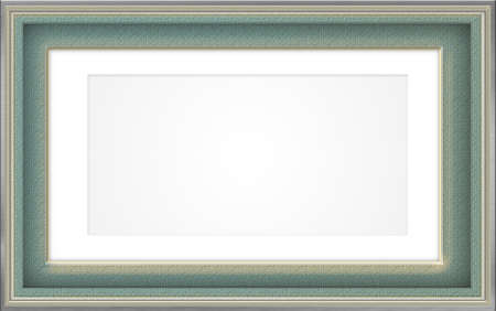 Frame design in green and gold photo