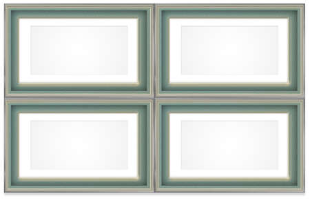 swanky: Frame design green and gold