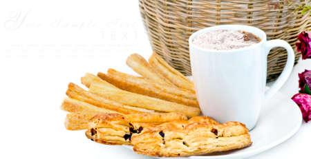 gressins: Gressins m�langer avec des boissons de cacao sur place pour le texte