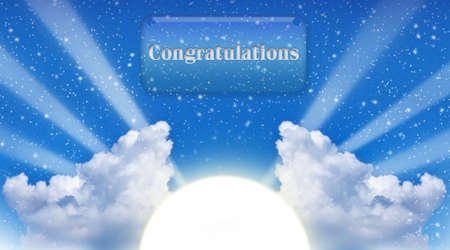 gladden: Congratulations new hope Stock Photo