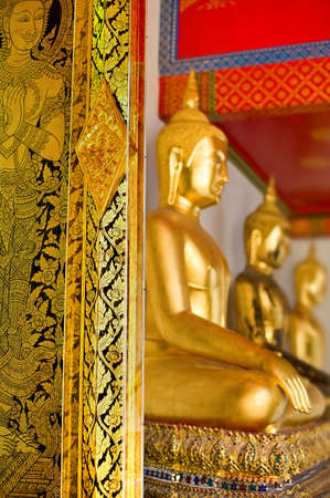 Door Thai  painting art  and Buddha statuestyle photo