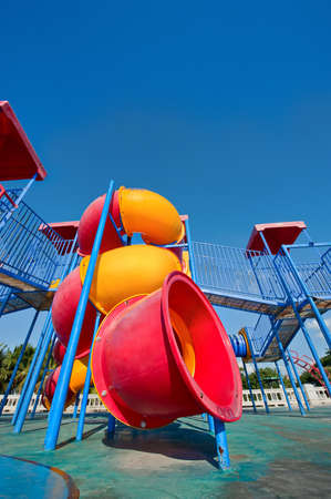 overly: Colorful Playground Stock Photo