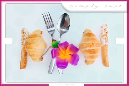 Decorate food design for love someone with candle flower photo
