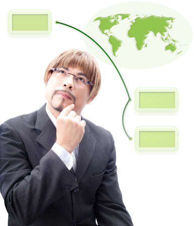 Specialist s thinking how to make green world photo