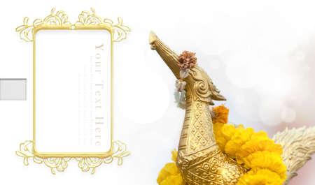 laureate: Gold Hong bird statue