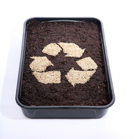 Recycle soil and grass seed Stock Photo - 9423170