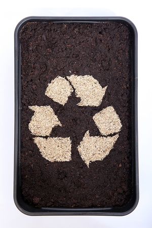 Recycle soil and grass seed Stock Photo - 9423171