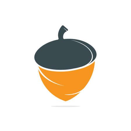 Plantilla de diseño de logotipo de concepto creativo de bellota. Plantilla de vector de ilustración de logotipo de bellota.