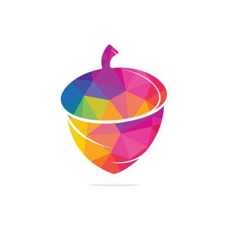 Creative Acorn Concept Logo Design Template. Acorn logo illustration vector template. Logos