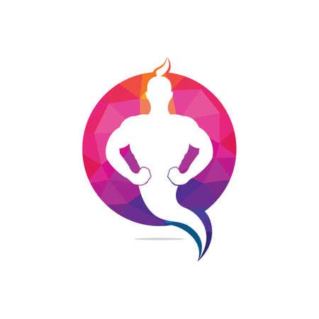 Genie-Logo-Design. Magic Fantasy Genie Konzeptlogo.