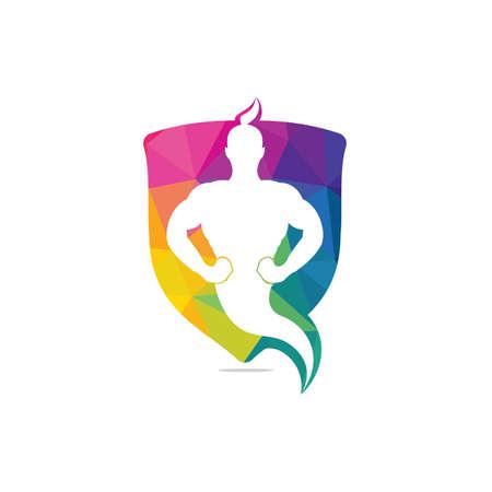 Genie Logo Design. Magic Fantasy genie concept logo.