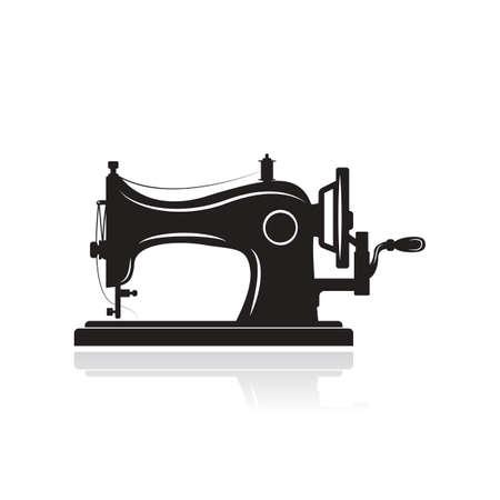 Symbol für manuelle Nähmaschine. Einfache Illustration der Handnähmaschinenikone für das Webdesign lokalisiert auf weißem Hintergrund. Vektorgrafik