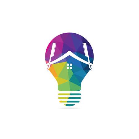 Barber Idea logo designs vector. Haircut Inspiration logo template.