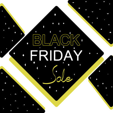Black Friday sale banner. Black Friday sale banner vector design template for website, ad. Origami banner vector design template for Black Friday sale.