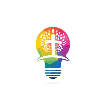 Church  design. Ministry  Design for Church. The Lamp of Jesus Christ. God's lamp sign. Illusztráció