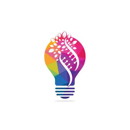 Creative Science genetics vector logo design. Genetic analysis, research biotech code DNA. Biotechnology genome chromosome.