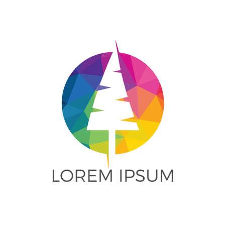 Tree vector logo design. Tree icon modern symbol. Logo