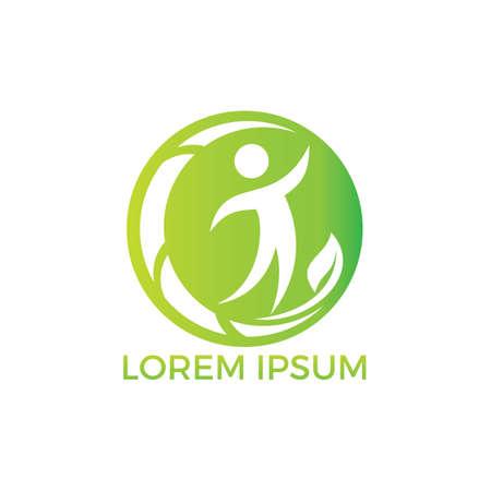 Human Health logo design. Healthcare vector logo concept illustration. Logo design template for clinic, hospital, medical center, doctor and etc.