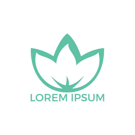 Spa logo lotus wellness salon and business spa logo. Business spa logo massage healthy design template concept.