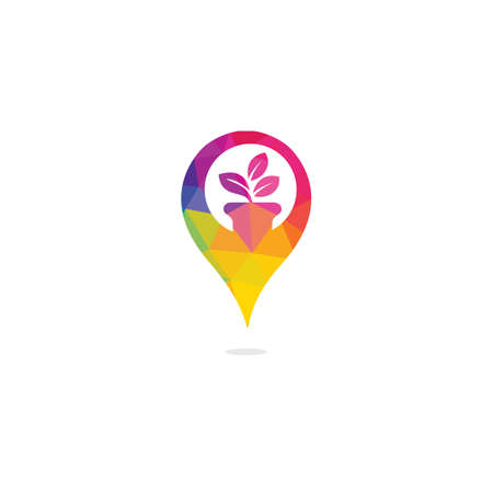 GPS garden vector logo design. GPS icon. Navigation vector logo. Navigation vector icon.