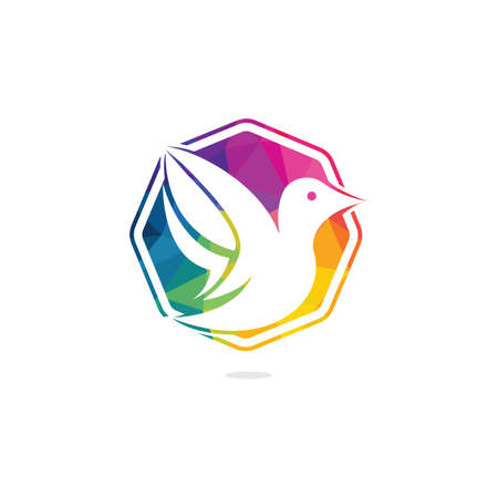 Bird vector logo design. Creative bird vector logo design template.