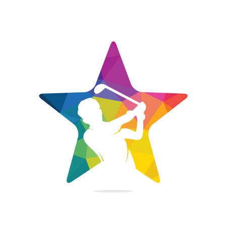 Star Golf club vector icon and symbol design.