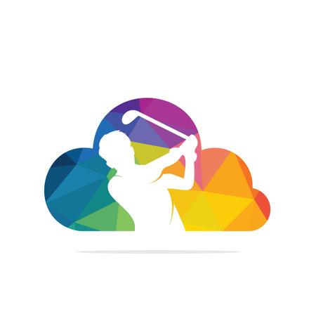 Cloud Golf vector icon and symbol design.