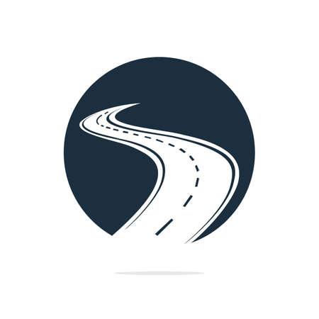 Creative road journey icon and symbol design.