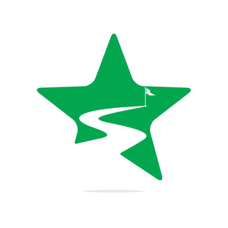 Way to success vector icon and symbol design. 向量圖像