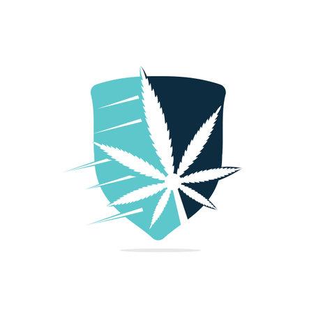 Marijuana leaf icon and symbol design template vector illustration.