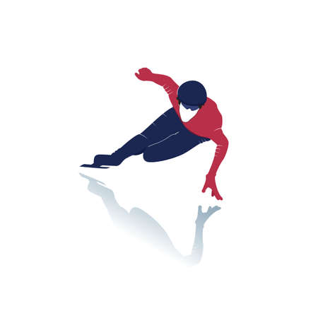 Ice skater vector design. Winter sport. Figure skating. Vector illustration.
