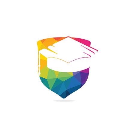 Graduation cap vector logo design. Education logo template. Institutional and educational vector logo design.