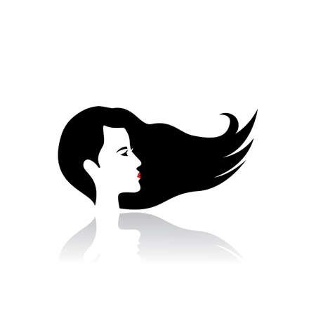 Vector icon and symbol for woman salons and shops.