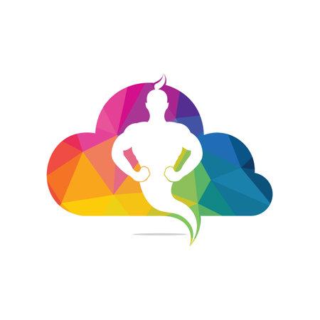 Genie Cloud icon and symbol Design.