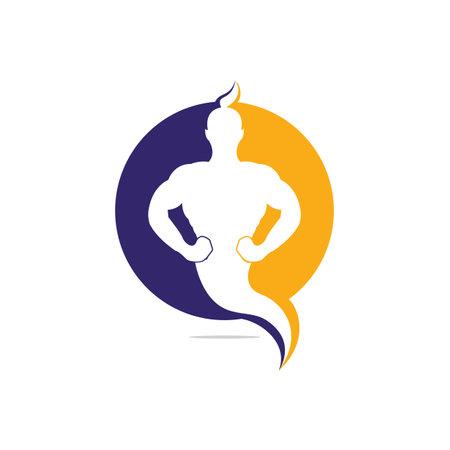 Magic Fantasy genie icon and symbol concept.