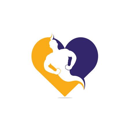 Genie Heart Shape icon and symbol Design.