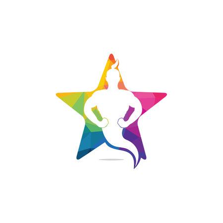 Star Genie icon and symbol Design.