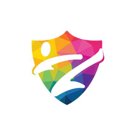 Karate sports vector logo design. Martial art logo concept.