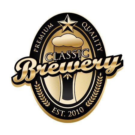 Brewery Label Vector