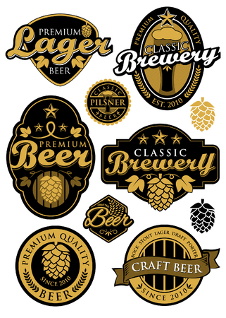 Classic Brewery Label Vector