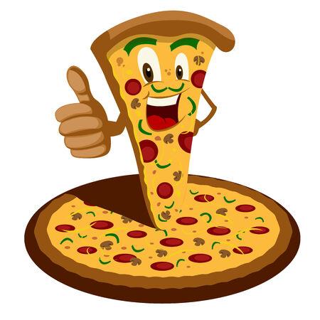 italy culture: Pizza Cartoon