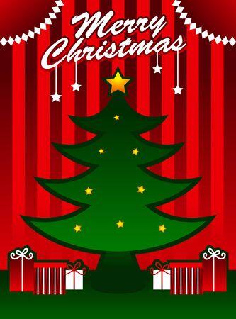 Christmas Tree Decoration Illusztráció