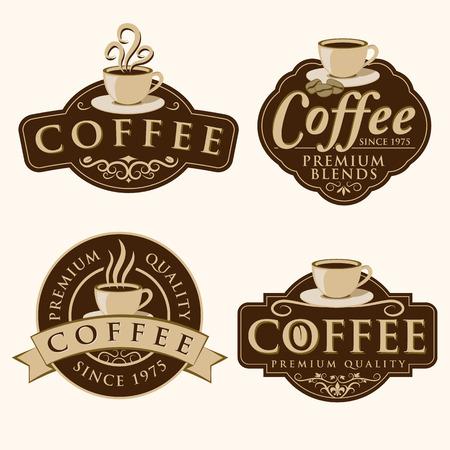 커피 레이블 일러스트