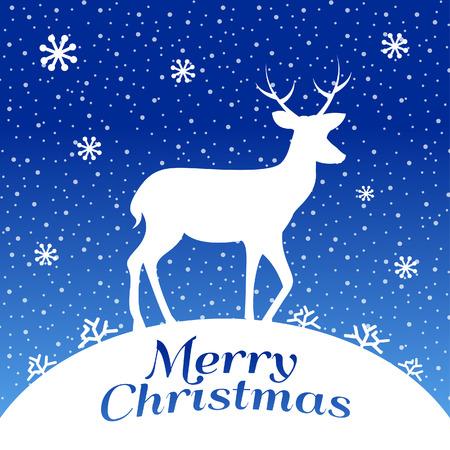 Christmas Deer Illusztráció