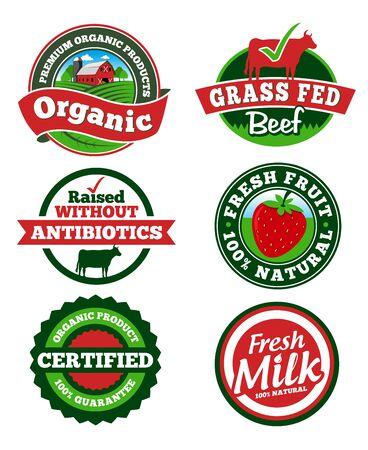 Farm Labels Vectores