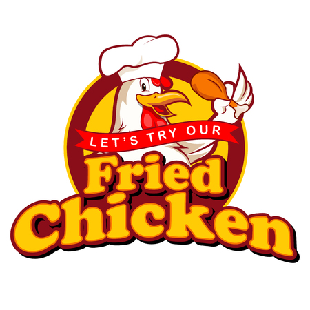 chicken fried: Fried Chicken sesi�n Vectores