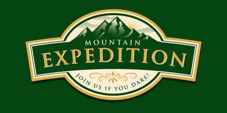 sport background: Mountain Expedition Illustration